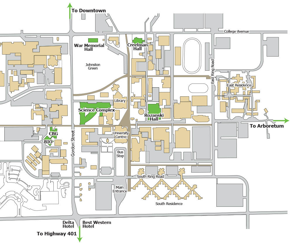 University of Guelph - Conference Map